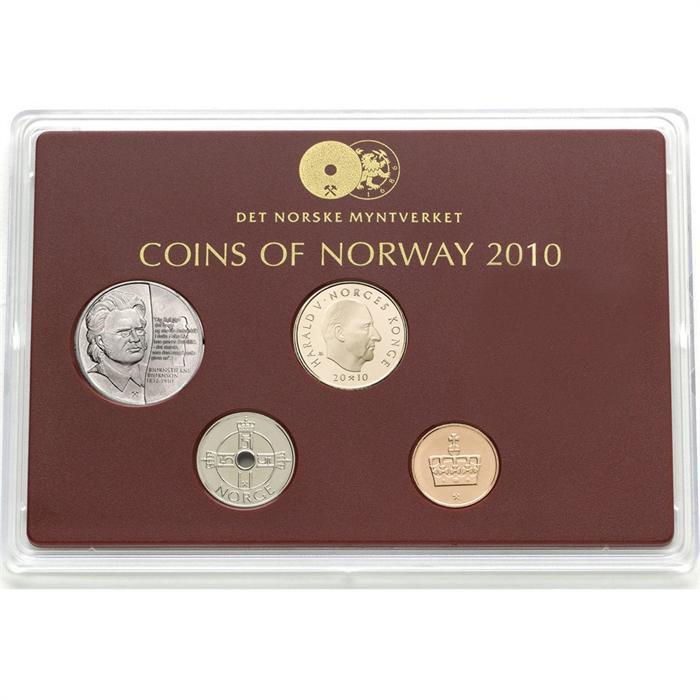 2008 Norway Classic Proof Coin Set w// 10 kr Henrik Wergeland