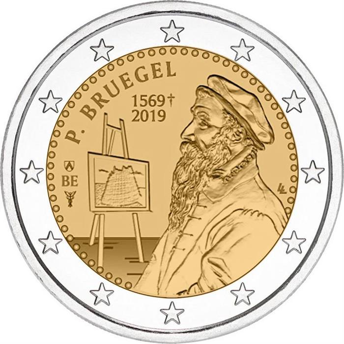 "Belgium 2 euro 2019 /""Death of Pieter Bruegel the Elder/"" BiMetallic UNC"