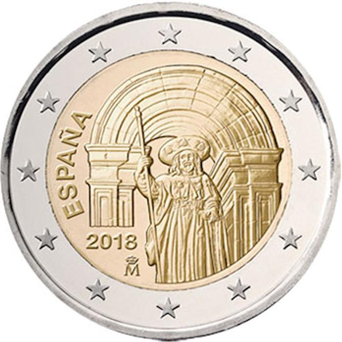 """Spain 2 euro coin 2016 /""""Old Town of Segovia and its Aqueduct/"""" UNC"""