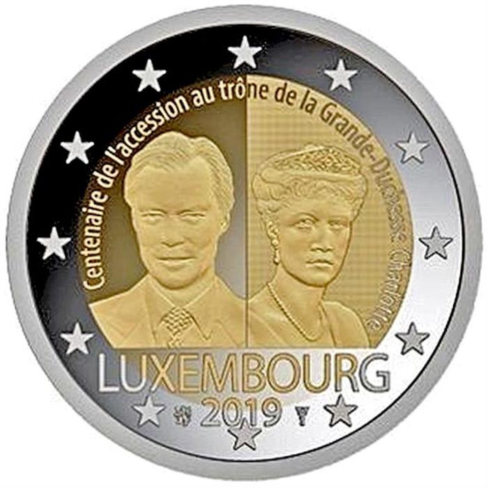 "2017 Luxembourg 2 Euro Uncirculated Coin /""Grand Duke Guillaume III 200 Years/"""