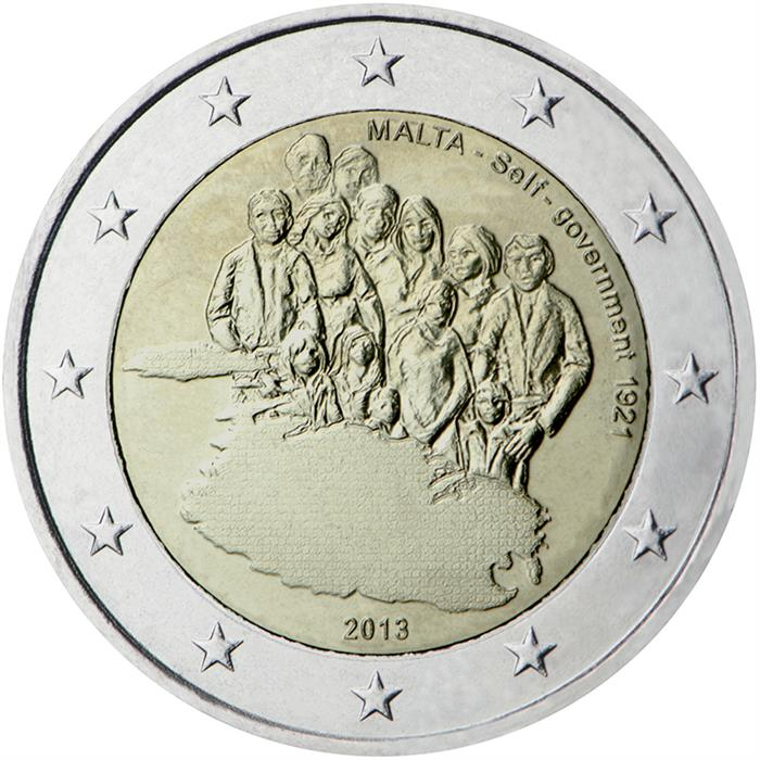 2 EURO MALTA 2013 UNC