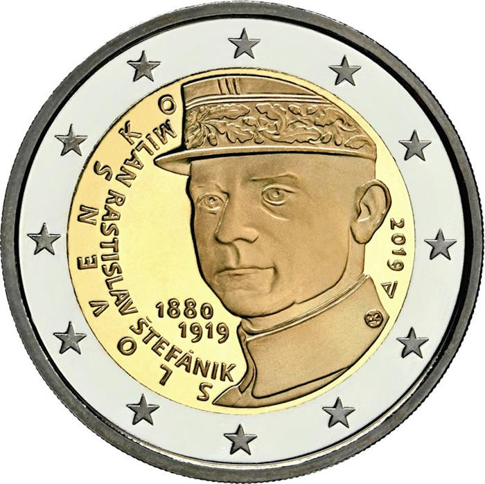 "2018 Slovakia € 2 Euro Uncirculated UNC Coin /""Republic of Slovakia 25 Years/"""